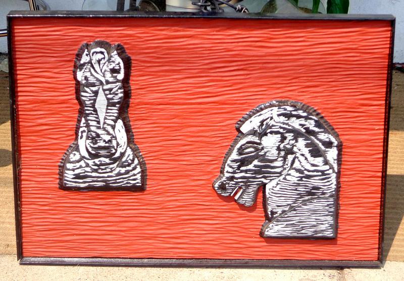 Unique Dimensional Zebra Framed Art.  36 x 2 x 25.  <b>$45</b>