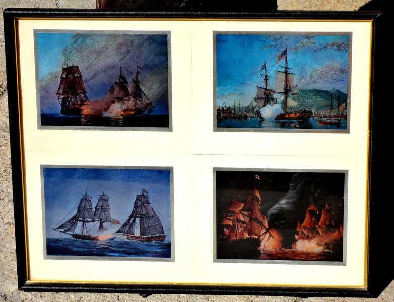 U. S. Ships of of '76 Framed Art.  21 x 17.  <b>$40</b>