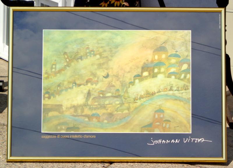 Johanan Vitta Framed Tribute Poster.  30 x 26.  <b>$50</b>