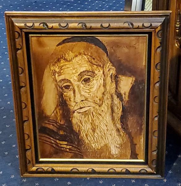 Jewish Rabbi Original Oil
