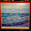 The Courtauld Collection Impressionist and Post-Impressionist Masterpieces Framed Poster.   Features Vincent Van Gogh La Crau near Arles Peach Trees.  Excellent condition.  34 1/2 x 33.