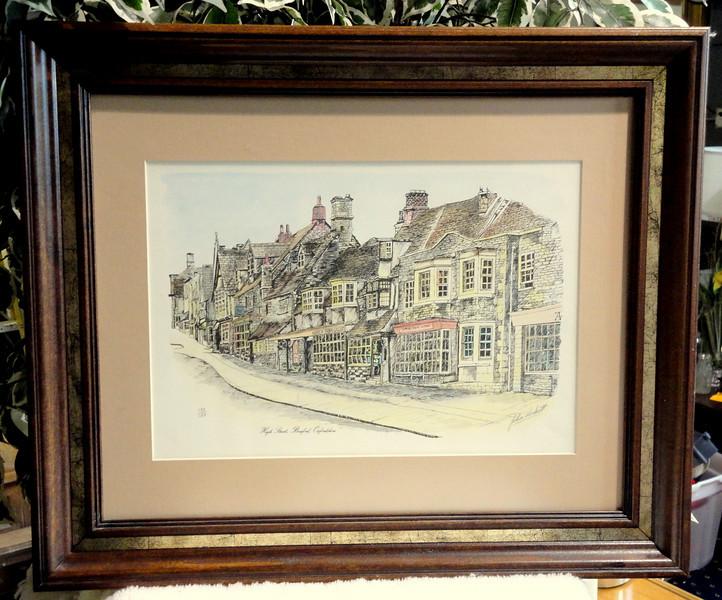 Highstreet Burford, Oxfordshire Signed Lithograph by John Lockett.  132/150.  24 x 20.  <b>$45</b>
