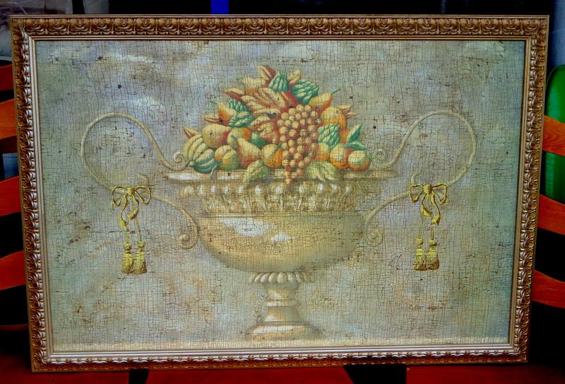 <i>Verona with Flute</i> Framed Art Print in Ornate Frame.  39 x 28.  <b>$40</b>