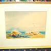 Original Framed Watercolor by Rae Cass.  28 x 24.  <b>$60</b>