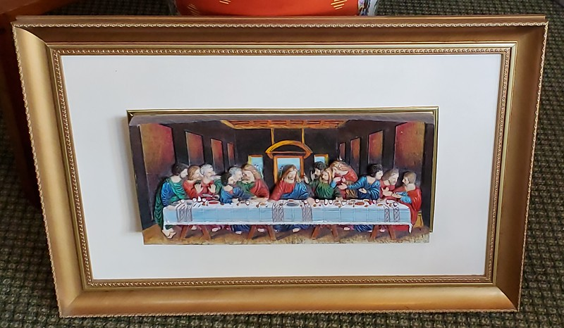 The Last Supper-  Dimensional Wood Block Depiction