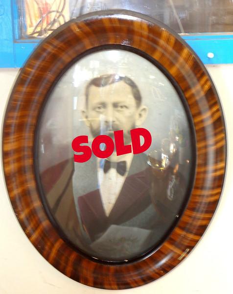 Rare Antique Glass Covered Wall Art Frame.  19 x 24.  <b>$95</b>