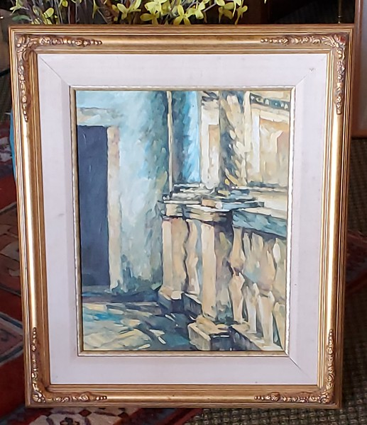 Mediterranean Terrace - Original Oil
