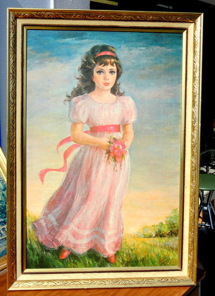 Young Girl in Nature.  28 x 40.  <b>$85</b>