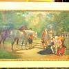 Vintage Colonial Art in Frame.  30 x 22 1/2.  <b>$50</b>