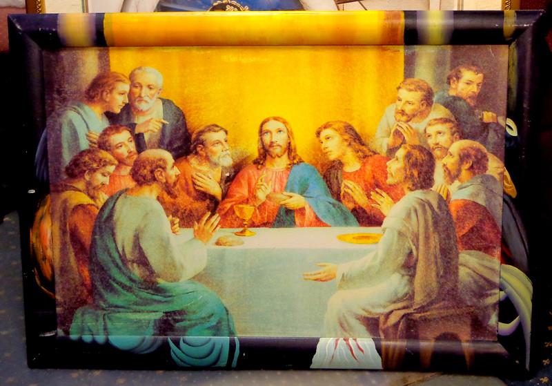 Unique <i>Last Supper</i> (Bonella) Framed Print.  38 1/2 x 27.  <b>$45</b>