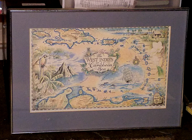 West Indies and Caribbean Sea Lithograph