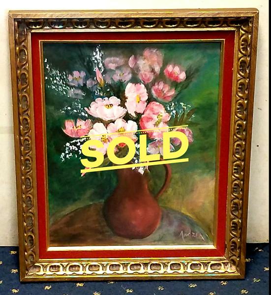 Original Oil Still Life on Canvas