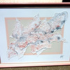 Large Size Contemporary Framed Art By Cooper. 54 x 42.   <b>$125</b>