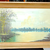 Secluded Lake in Oil.  29 x 21.  <b>$30</b>