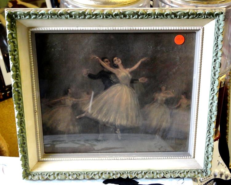 Beautiful Prima Ballerina in Performance Framed Art. Classic Degas reproduction. 16 x 14.  <b>$45</b>