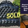Provincial Black Tufted Leather Bedframe