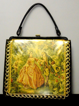 Vintage French Provincial-Themed Soure' of New York Purse in Excellent Condition.  11 x 2 x 16.  $125