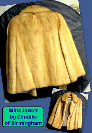 Beautiful Mink Jacket By Chudiks of Birmingham.  Excellent condition.  Medium size. Fred has a nice selection of  gently used furs in excellent condition that may be just perfect for you.  This collection is only available for viewing at select times during the week, so call our Warren Store and set up a convenient time to take a look.  Fred will definitely make it worth your while.  $250