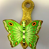 Vintage All-Brass Hand Painted Butterfly Note Keeper.  It's hard enough keeping track of the big items in our store let alone smaller items in our upstairs boutique.  This remarkable note clip is just one of the interesting jewelry and trinkets that you'll find in our Warren Store.  Perfect for holiday gift giving.  We appreciate that you think about us for furniture and accent pieces, but don't forget to consider us when it comes to smaller gift size items as well.  2 x 4.  <b>$25</b>