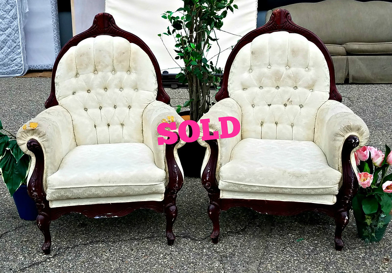 Distressed Victorian Chairs