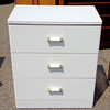 Super Budget Contemporary White 3-Drawer Chest of Drawers.  26 x 17 x 30.  <b>$35</b>
