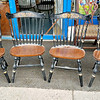 Set of 4 Solid Wood Hitchcock-Style Dining Room Chairs.  <b>$195 for the set.</b>