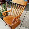 Super Budget Solid Wood Oak Glider / Rocker.  <b>$65</b>