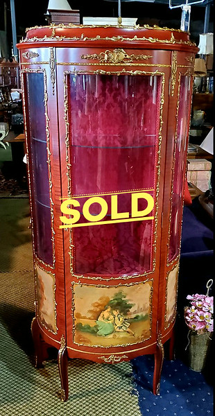 Provincial Gilded Brass Display Cabinet