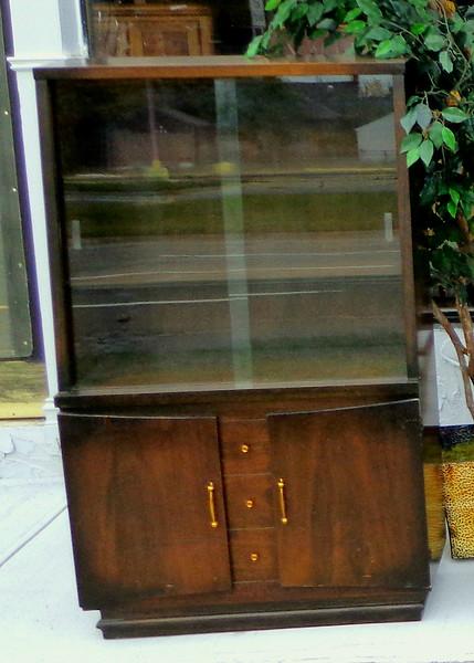 Uniquely Styled Retro China Cabinet.  36 x 16 1/2 x 61.  <b>$225</b>