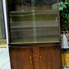 Uniquely Styled Retro China Cabinet.  36 x 16 1/2 x 61.  <b>$225</b>