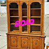 Burl Wood China Cabinet