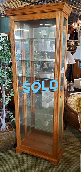 Solid Wood Curio Cabinet