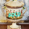 Capodimonte Italy Covered Candy Dish