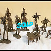 Solid Brass Musician Figurines