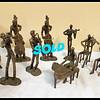 Solid Brass Musician Figurines
