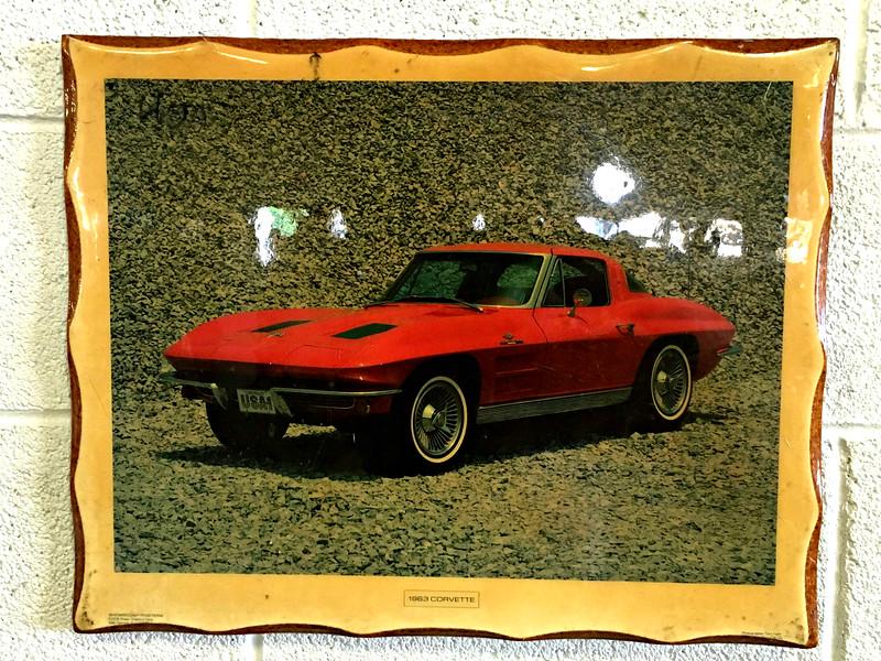 1963 Corvette in Frame
