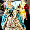 Hand Painted Porcelain French Provincial Figurines.  10 x 13. <b>$125</b>