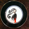 <i>Mikasa Erte - Flames D Amoire </i> Fine Bone China Collector Plate.  12 1/2 inch dinner plate.