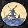 Vintage <i>Delfts Handwerk</i> 12-Inch Decorator Plate.  Made in Holland.  <b>$15</b>