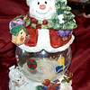 Jolly Santa Cookie Jar.  Top and bottom of this jar are beautifully hand painted.  <b> $20 <b/>