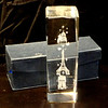 Unique Vintage Eiffel Tower, Arc de Triomphe & Taj Mahal Glass Paperweight in Excellent Condition.  2 x 2 x 6.  Includes original box. <b>$45</b>