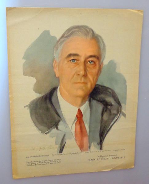 Rare ~ FDR - <i>The Unfinished Portrait </i>by Elizabeth Shoumatoff 1st Edition 1945.  10 x 13.  <b>$85</b>