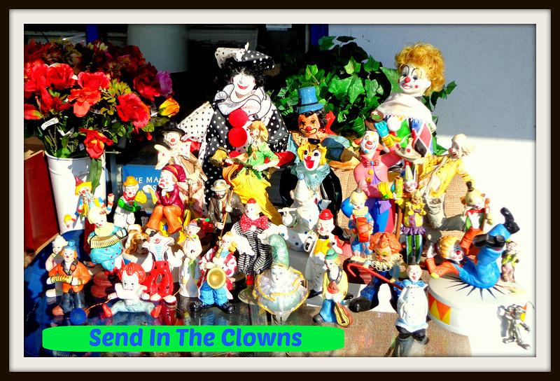 Nice Assortment of Collectible Clowns.  These recently arrived items and many more like it are typically available at our Warren Store.  Sold individually.  <b>Make a Fair Offer.</b>