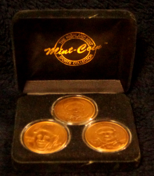 Chipper Jones, Andrew Jones, Greg Maddux Southern Pride Highland Mint Bronze 3-CoinSet.  Condition - Mint.  Limited Edition 0138/2500.  <b>$40</b>