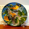 "1987 Knowles The Baltimore Oriole Collector's Plate.  Keith Daniel.  Plate # 15550I.  From the Encyclopedia Brittanica's ""Bird's in Your Garden Collection.  In original packaging with Certificate of Authenticity.  <b>$50</b>"
