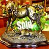 Strikingly Dramatic Horse with Colt Desk Statue. 13 x 7 x 11.  <b>$95</b>