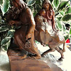 Solid Wood Hand Carved Religious Sculpture.  10 x 4 x 11.  <b>$75</b>