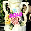 Genuine Premium Capodimonte Porcelain Floral-Adorned Vase.  8 x 6 x 12.  <b>$65</b>