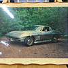 Extremely Hard-to-Find Vintage <i>Showroom Posters</i> 1966 Corvette in Frame.  Preserved on frame.  A true collector's piece.  20 x 16.