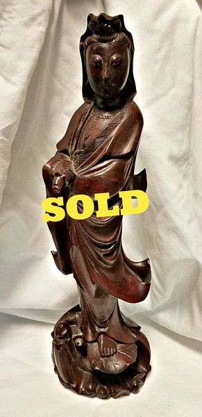 Antique Oriental Carved Figure